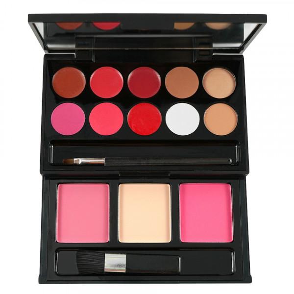 Poze Trusa Machiaj 10 culori cu ruj si 3 culori blush My Beauty Secret