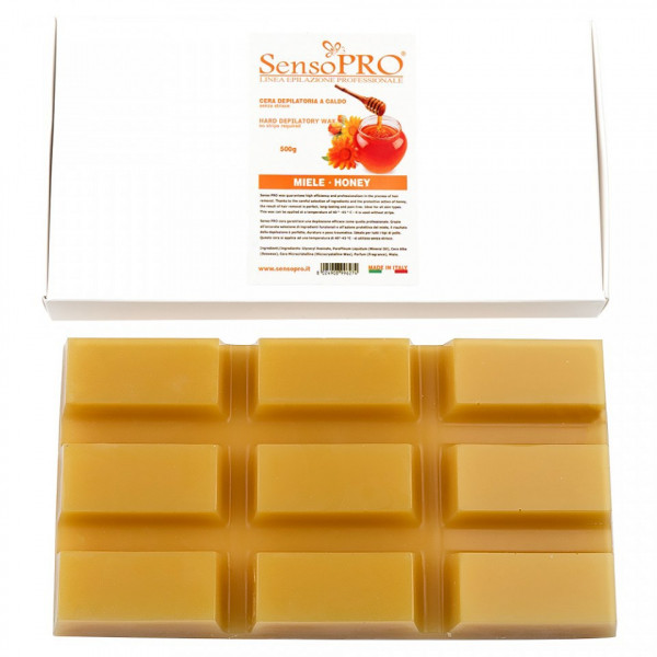 Poze Ceara Epilat Elastica Refolosibila SensoPRO - Honey Hard Wax, 500g