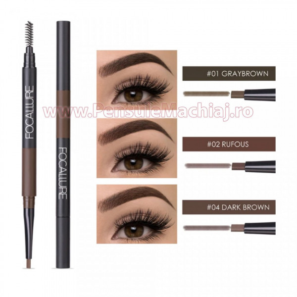 Poze Creion sprancene 3 in 1 Focallure Amazing Brows