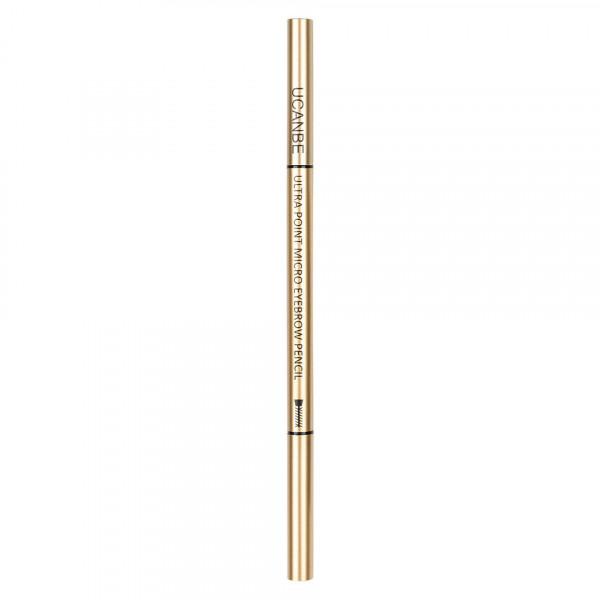 Poze Creion Sprancene Retractabil 2 in 1 cu perie, UCANBE #01 Classic Brown