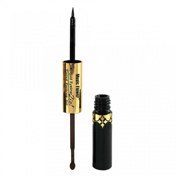Poze Eyeliner Lichid 2 in 1 cu gel de sprancene Music Flower #03