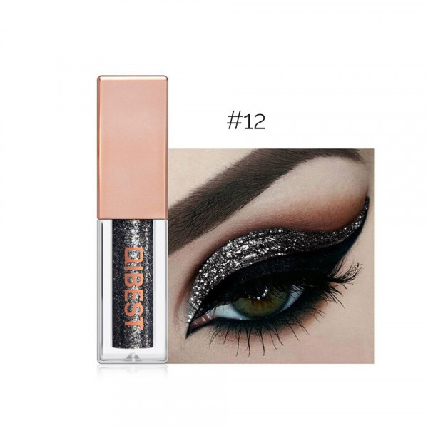Poze Fard Pleoape Lichid Qibest Eye Shimmer #12 Night Star