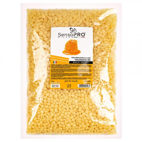 Poze Kit Epilare Ceara Traditionala Granule LUXORISE Germania Diamond Skin - Honey, 800 ml