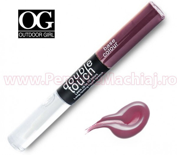 Poze Lip Gloss rezistent la transfer mat, Long Lasting Double Touch #05 - Dare to Dream