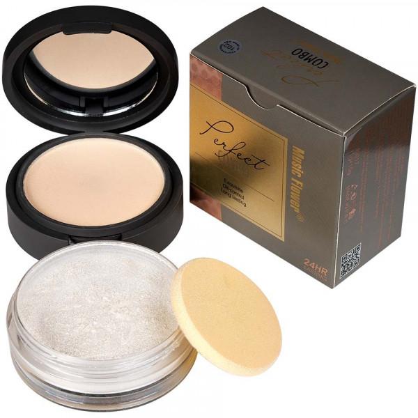 Poze Pudra Machiaj si Iluminator Silver Makeup #101