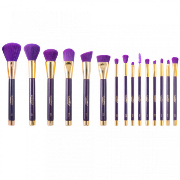 Poze Set 15 Pensule Machiaj LUXORISE Germania Imperial Purple Collection + Bonus suport pensule