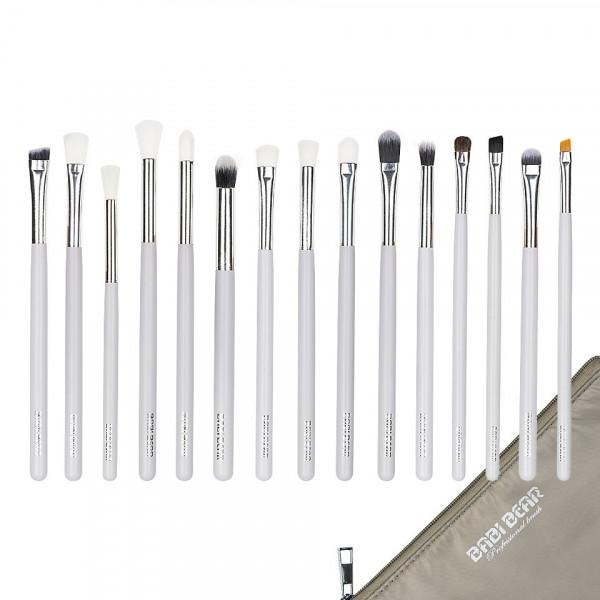 Poze Set 15 pensule machiaj Precise Makeup White + Borseta Cadou