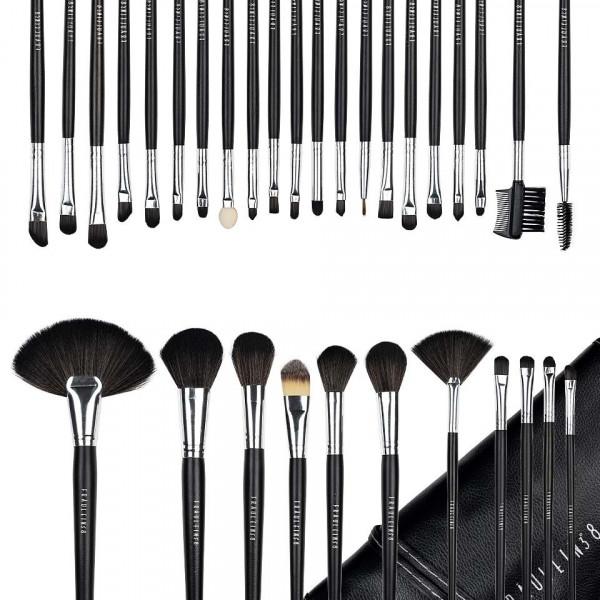 Poze Set 32 pensule machiaj Fraulein38 Studio Black + Borseta Cadou