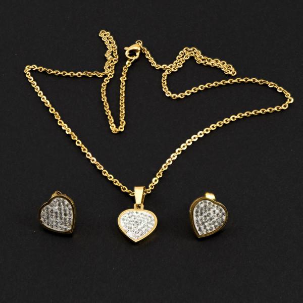 Poze Set Bijuterii Inox Shiny Hearts