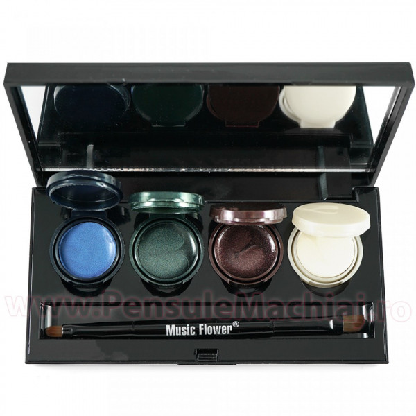 Poze Set Eyeliner - Eyeshadow Gel 4 culori Smoked Makeup #02