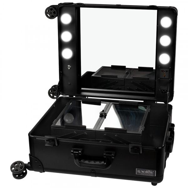 Poze Statie Makeup Portabila Profesionala cu Lumini, Black Delight - LUXORISE