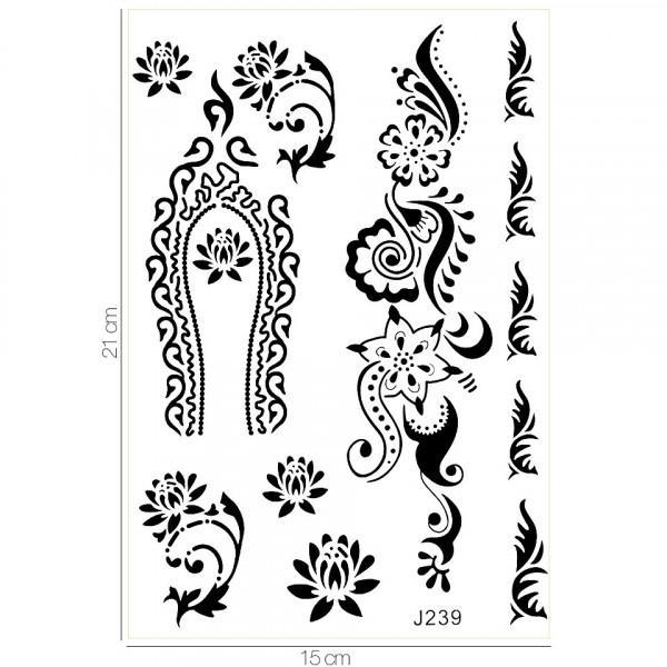 Poze Tatuaj Temporar LUXORISE Henna Temptation Flower Crown J239