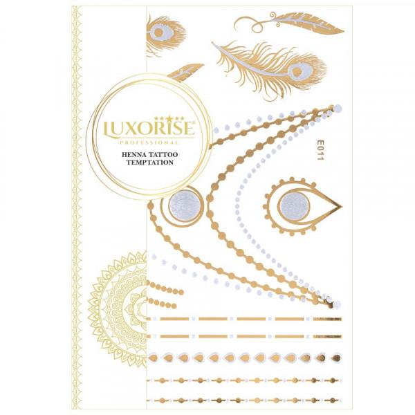 Poze Tatuaj Temporar LUXORISE Henna Temptation Gold Edition E011