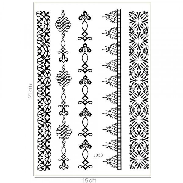 Poze Tatuaj Temporar LUXORISE Henna Temptation Gold Edition J033