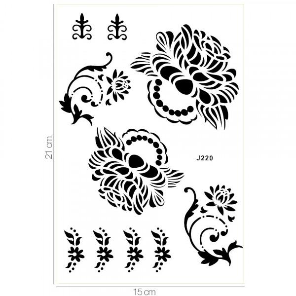Poze Tatuaj Temporar LUXORISE Henna Temptation Rose Story J220