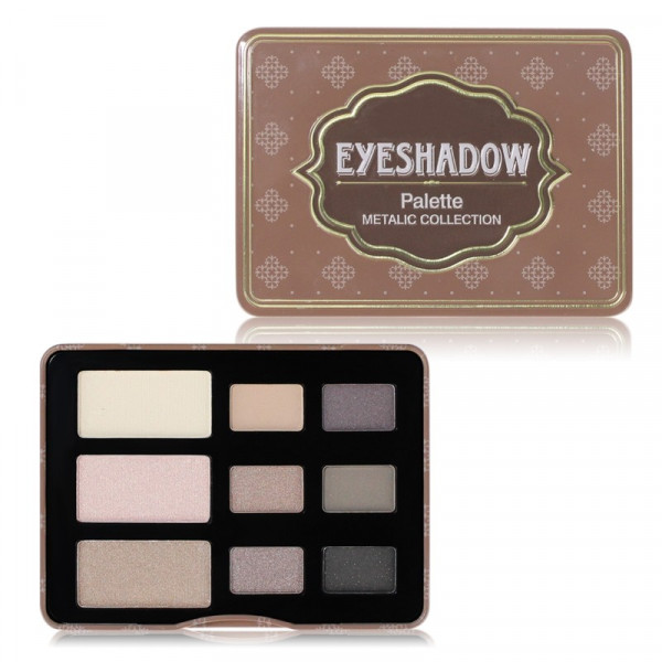 Poze Trusa Farduri 9 culori Eyeshadow USHAS Brown Eyes #03