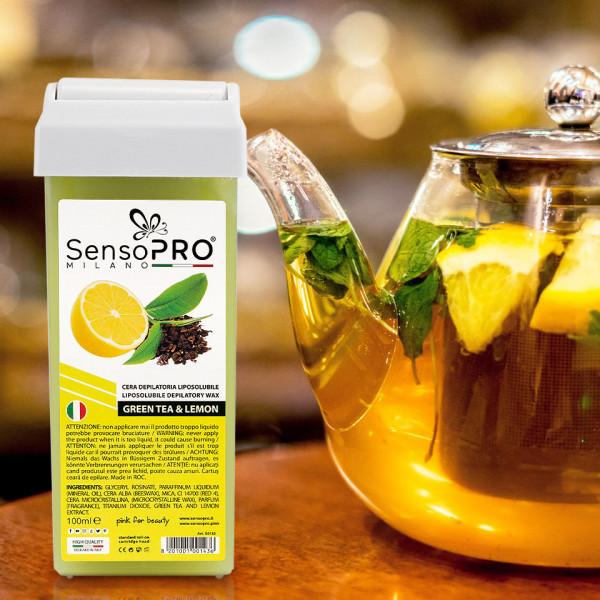 Poze Ceara Epilat Unica Folosinta SensoPRO Italia, Rezerva Ceai Verde si Lamaie 100 ml