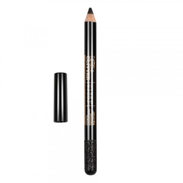 Poze Creion Colorat Contur Ochi cu Sclipici, Ushas Glittery Black #01