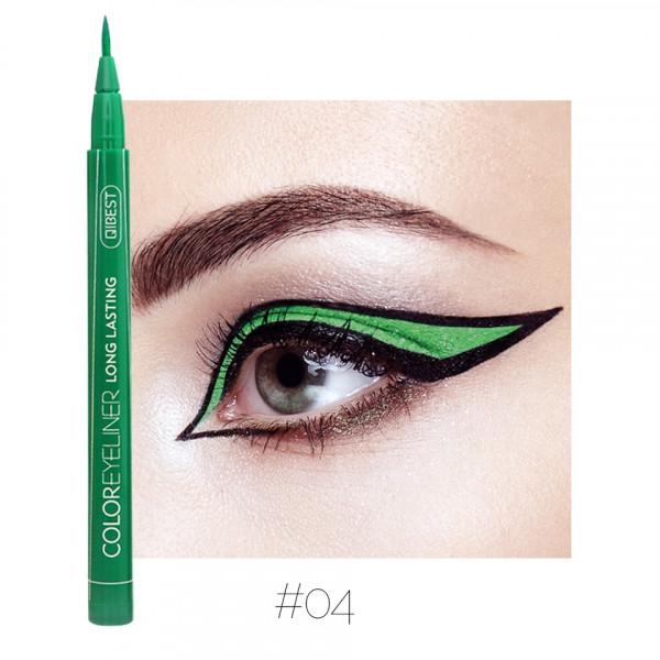 Poze Eyeliner colorat Qibest Waterproof, Verde #04