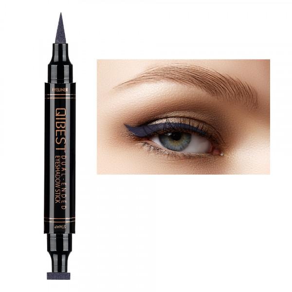 Poze Eyeliner Colorat tip Carioca cu Stampila Ochi, Qibest Mirage Violet #12