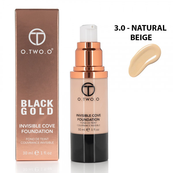 Poze Fond de Ten Invisible Foundation O.TWO.O - Natural Beige, 30 ml