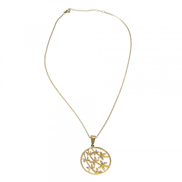 Poze Lantisor Inox cu Medalion - Magic Butterflies