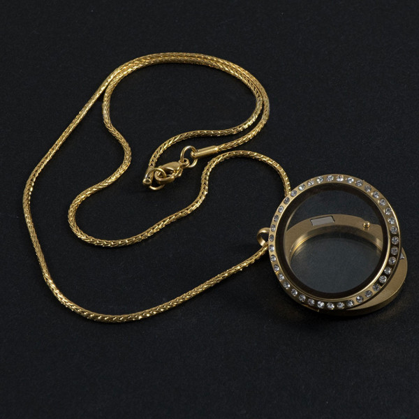Poze Lantisor Inox cu Medalion - Ring Diamonds