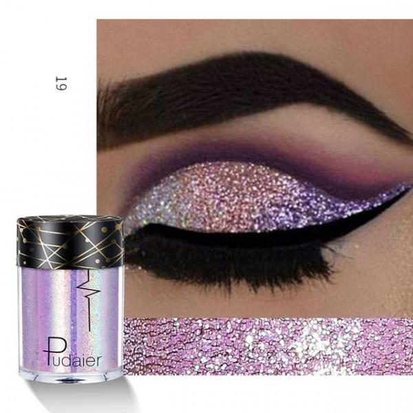 Poze Pigment machiaj ochi holografic Pudaier #19 - Royal Plum