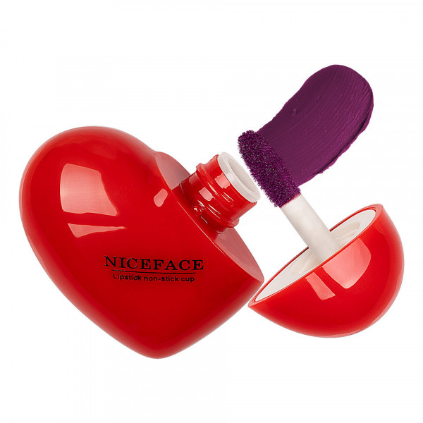 Poze Ruj Lichid Mat Niceface Heart to Lips #07
