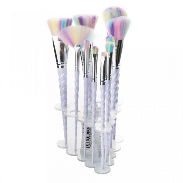 Poze Set 10 Pensule Machiaj Luxorise Germania Unicorn Brushes Limited Edition + Suport Pensule