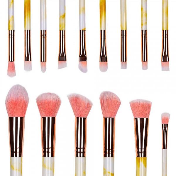 Poze Set 15 pensule machiaj Colour Your World - Yellow