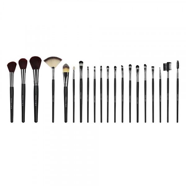 Poze Set 20 pensule machiaj profesionale Fraulein38 - Black Design + Borseta Cadou