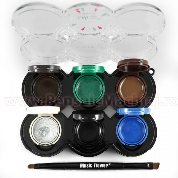 Poze Set Eyeliner Gel 6 culori Lasting Waterproof
