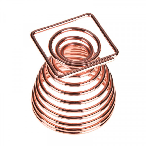 Poze Suport Burete Machiaj Shiny Rose Gold