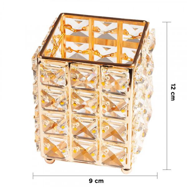 Poze Suport Pensule Crystal, Star Gold