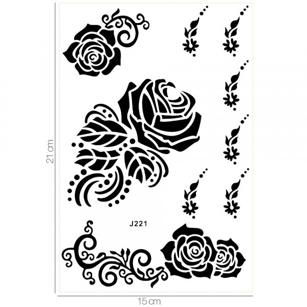 Poze Tatuaj Temporar LUXORISE Henna Temptation A Rose Tatto J221