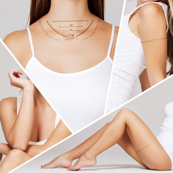 Poze Tatuaj Temporar LUXORISE Henna Temptation Gold Edition E003
