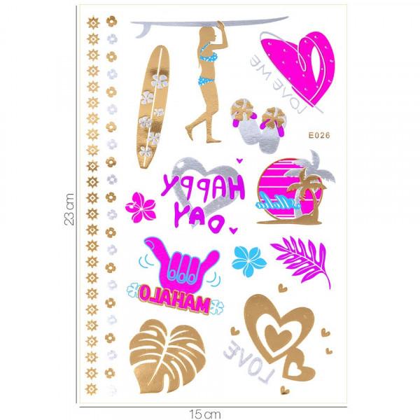 Poze Tatuaj Temporar LUXORISE Henna Temptation Gold Edition E026
