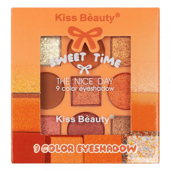Poze Trusa Farduri 9 culori Kiss Beauty Sweet Time