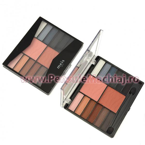 Trusa Machiaj 14 culori cu blush si pudra #04 Meis Kit Fall Shades