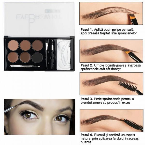 Poze Trusa sprancene 6 nuante Premium Edition - Eyebrow Kit