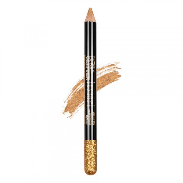 Poze Creion Colorat Contur Ochi cu Sclipici, Ushas Glittery Gold #08