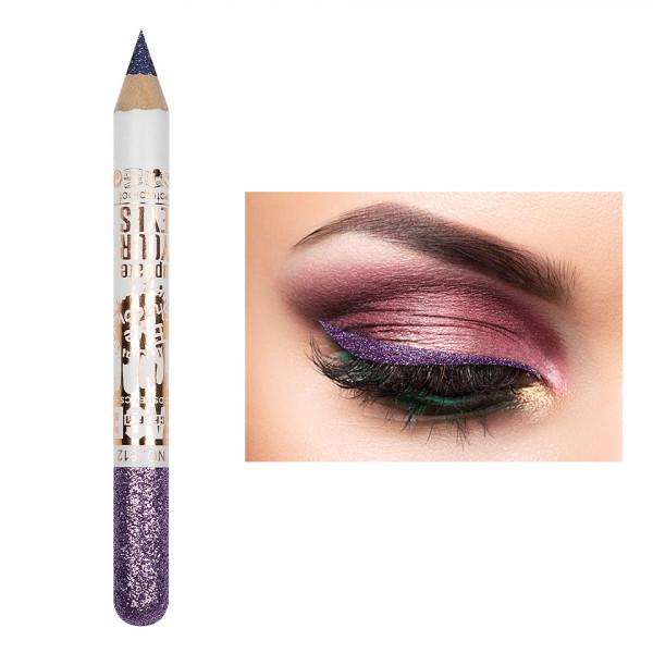 Poze Creion Contur Ochi Colorat cu Sclipici, Waterproof #512