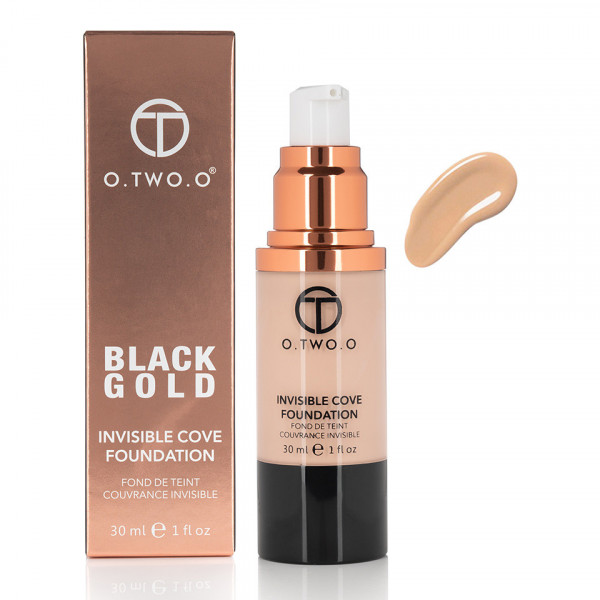 Poze Fond de Ten Invisible Foundation O.TWO.O - Warm Beige, 30 ml