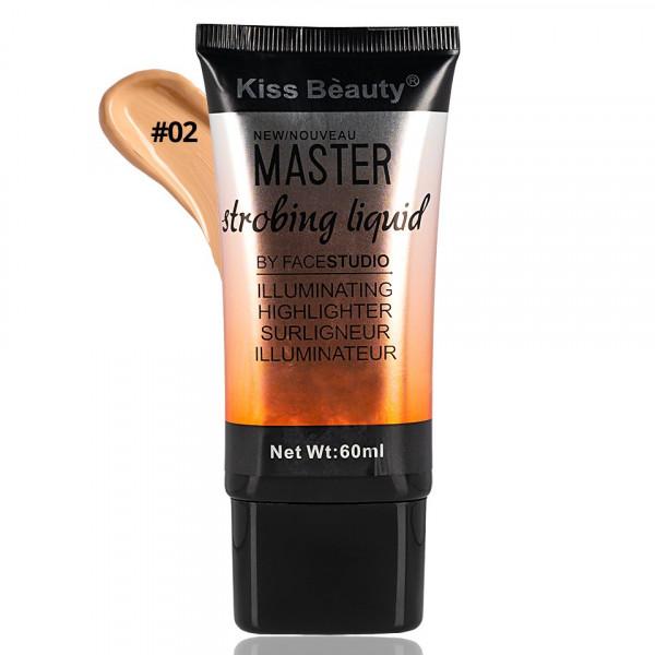 Poze Fond de Ten Lichid Kiss Beauty Master Strobing Liquid #02, 60 ml