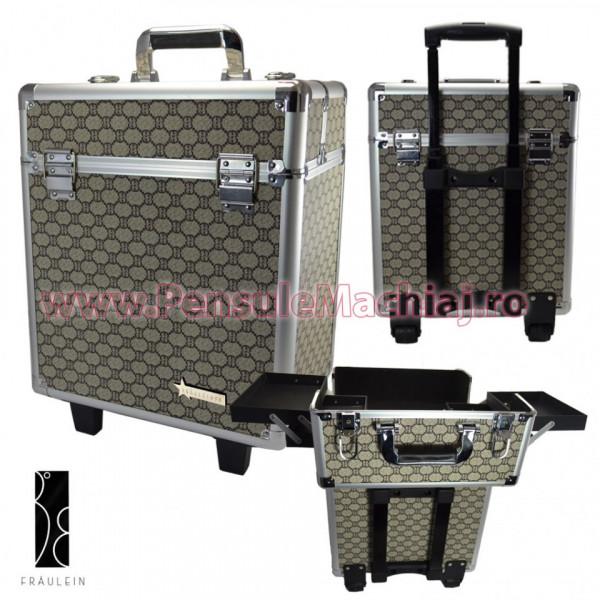 Geanta Produse Cosmetice Tip Troler Din Aluminium Fraulein38, Sophisticated
