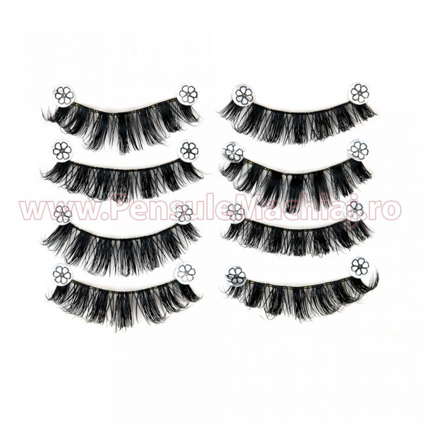 Poze Gene False Profesionale Hand Made 4 Seturi, Romantic Eyes S-07