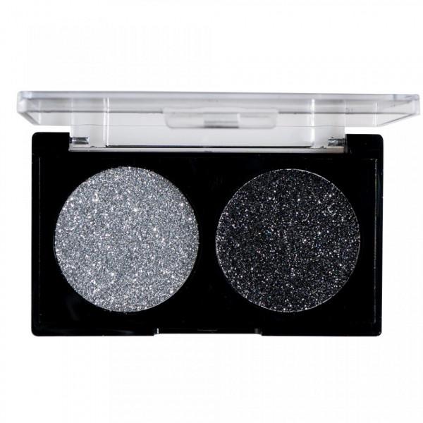 Poze Glitter Ochi Pulbere Silver & Black