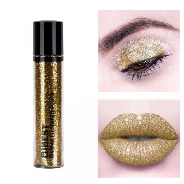 Poze Glitter Pulbere Ochi si Buze Diamond Glitter #10 Gold Fairy