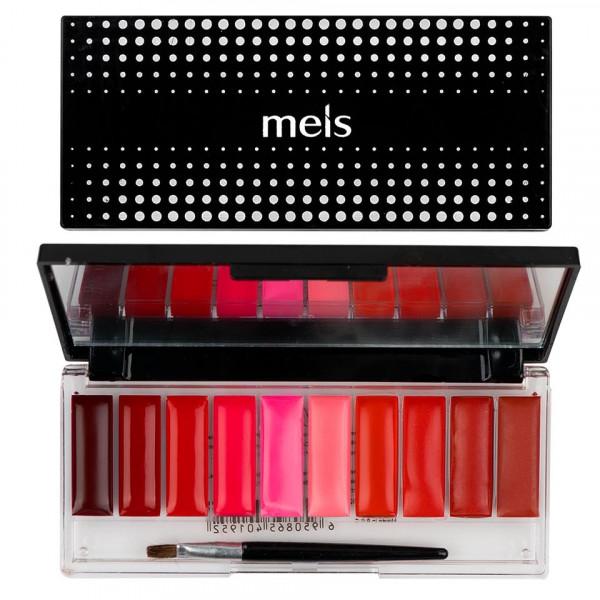 Poze Paleta Ruj si Gloss 10 culori #01 Lady in Red
